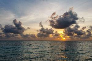 Sonnenuntergang indischer Ozean
