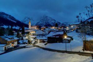 Blaue Stunde in Hirschegg
